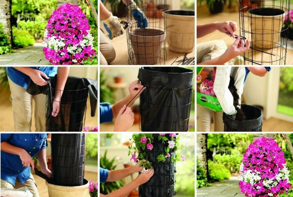 Как сделать клумбу для цветов своими руками с